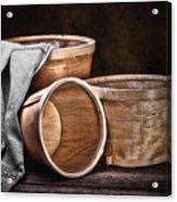 Three Basket Stil Life Acrylic Print by Tom Mc Nemar