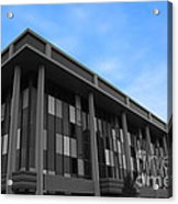 Three Story Selective Color Building Acrylic Print by Bill Woodstock