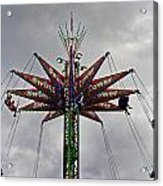 Thrill Tower Acrylic Print by Skip Willits