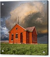 Thunderous Plains Acrylic Print by Jill Van Doren Rolo