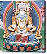 Tibetan Buddhist Temple Deity Sculpture Acrylic Print by Tim Gainey
