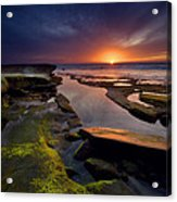 Tidepool Sunsets Acrylic Print by Peter Tellone