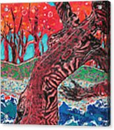 Tiger Lady Acrylic Print by Diane Fine