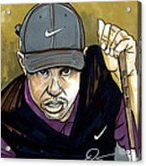 Tiger Woods Acrylic Print by Dave Olsen
