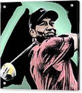 Tiger Woods Acrylic Print by Tanysha Bennett-Wilson