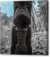 Tiki Man In Infrared Acrylic Print by Jason Chu