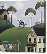 Till The Cows Come Home Acrylic Print by Catherine Holman