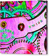 Time In Abstract 20130605p108 Long Acrylic Print by Wingsdomain Art and Photography