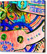 Time In Abstract 20130605p180 Acrylic Print by Wingsdomain Art and Photography