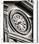 Time In Black And White Acrylic Print by Brenda Bryant