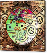 Time Machine 20130606 Square Acrylic Print by Wingsdomain Art and Photography