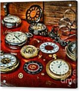 Time - Pocket Watches  Acrylic Print by Paul Ward