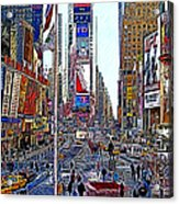 Time Square New York 20130430 Acrylic Print by Wingsdomain Art and Photography