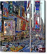 Time Square New York 20130430v2 Acrylic Print by Wingsdomain Art and Photography