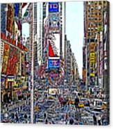 Time Square New York 20130503v6 Acrylic Print by Wingsdomain Art and Photography