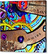 Time Waits For Nobody 20130605 Square Acrylic Print by Wingsdomain Art and Photography
