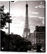 Timeless Eiffel Tower Acrylic Print by Olivier Le Queinec