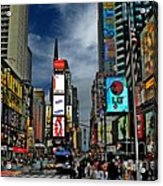 Times Square Acrylic Print by Jeff Breiman