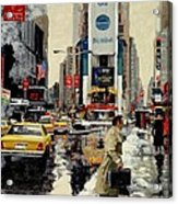 Times Square Acrylic Print by Michael Swanson