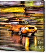 Times Square Taxi I Acrylic Print by Clarence Holmes