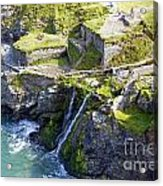 Tintagel Waterfalls Acrylic Print by Rod Jones