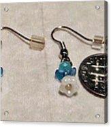 Tiny Angel Earrings Acrylic Print by Kimberly Johnson