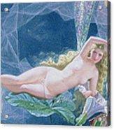 Titania Lying On A Leaf  Acrylic Print by John Simmons