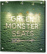 To The Green Monster Seats Acrylic Print by Barbara McDevitt