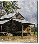 Tobacco Barn In North Carolina Acrylic Print by Benanne Stiens