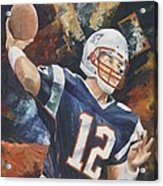 Tom Brady Acrylic Print by Christiaan Bekker