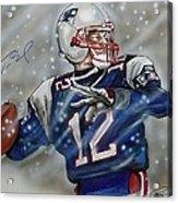 Tom Brady Acrylic Print by Dave Olsen