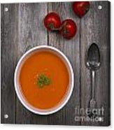 Tomato Soup Vintage Acrylic Print by Jane Rix