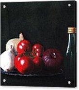 Tomatoes And Onions Acrylic Print by Anastasiya Malakhova