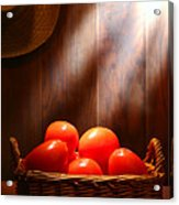 Tomatoes At An Old Farm Stand Acrylic Print by Olivier Le Queinec