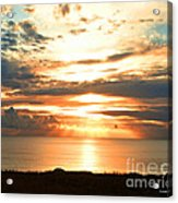 Tomorrow Is A New Day- Beach At Sunset Acrylic Print by Artist and Photographer Laura Wrede