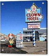 Tonopah Nevada - Clown Motel Acrylic Print by Frank Romeo