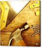 Tools Acrylic Print by Les Cunliffe