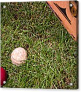 Tools Of The Game  Acrylic Print by Tom Gari Gallery-Three-Photography