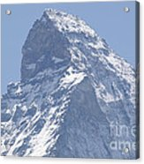 Top Of A Snow-capped Mountain Acrylic Print by Mats Silvan
