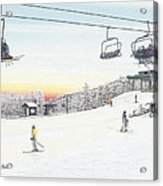 Top Of The Mountain At Seven Springs Acrylic Print by Albert Puskaric