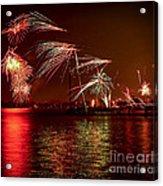 Toronto Fireworks Acrylic Print by Elena Elisseeva