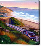 Torrey Pines Commute Acrylic Print by Mary Helmreich