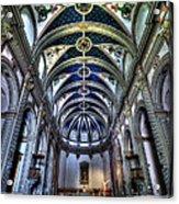 Tossa De Mar Church Acrylic Print by Isaac Silman