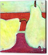 Touching Pears Art Painting Acrylic Print by Blenda Studio