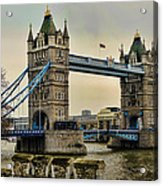 Tower Bridge On The River Thames Acrylic Print by Heather Applegate