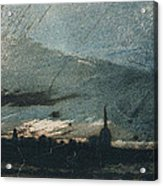 Town At Dusk Acrylic Print by Victor Hugo