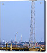 Town Quay Navigation Marker And Fawley Acrylic Print by Terri Waters