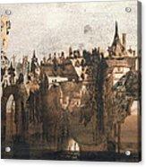 Town With A Broken Bridge Acrylic Print by Victor Hugo