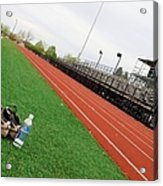 Track And Field Acrylic Print by Tom Druin
