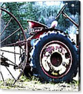 Tractor Hdr Acrylic Print by Graham Foulkes